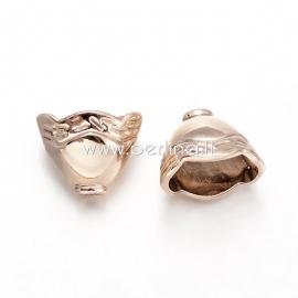 Bead cone, unfading light golden tone, 9x11,5x8 mm, 1 pc