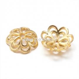 Bead cap, golden, 14x4 mm, 1 pc