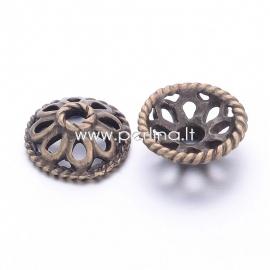 Bead cap, antique bronze, 11,5x4 mm, 1 pc