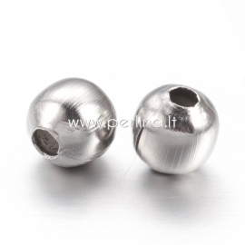 Spacer bead, stainless steel, 4 mm, 1 pc