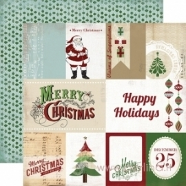 "Popierius ""Christmas Journaling Cards"", 30,5x30,5 cm"