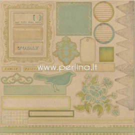 """Chipboard """"Life Stories - Accessory Sheet 1 - Day255"""", 30,5x30,5cm"""