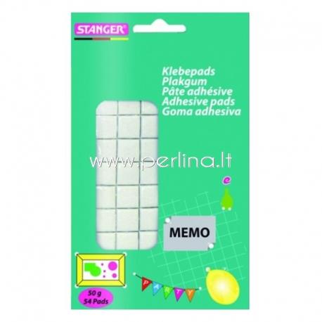 "Lipnūs dvipusiai kvadratėliai ""STANGER Adhesive Pads"" , 54 vnt/50g"
