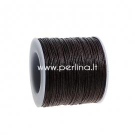 Wax cotton cord, dark coffee, 1 mm, 1 m