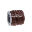 Vaškuota medvilninė virvelė, šviesi ruda, 1 mm, 1 m