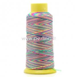 Cotton thread / cord, multicolor, 0,6 mm, 1 m