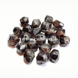 Natural garnet nugget, 14x13x12 - 10x10x11 mm, 1 pc