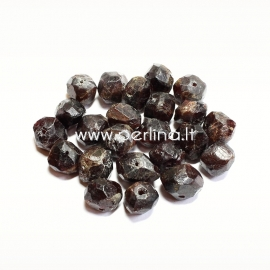 Natural garnet nugget, 14x7mm - 9x8 mm, 1 pc