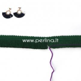 Polyester thread cord, green, 25 mm, 10 cm