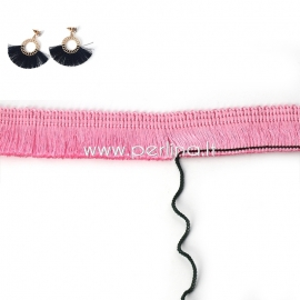 Polyester thread cord, pink, 25 mm, 10 cm