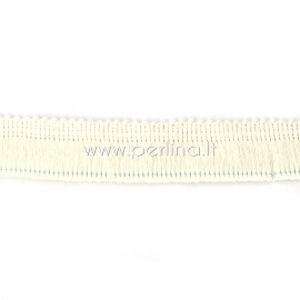 Polyester thread cord, off-white, 25 mm, 10 cm