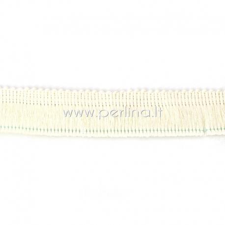 Poliesterio juostelė, kreminės sp., 25 mm, 10 cm