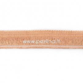 Polyester thread cord, peachy beige, 25 mm, 10 cm