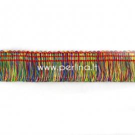 Polyester thread cord, multicolor, 25 mm, 10 cm