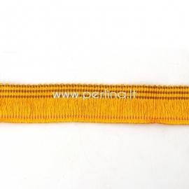 Poliesterio juostelė, tamsi geltona sp., 25 mm, 10 cm