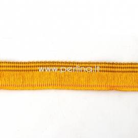 Polyester thread cord, ginger, 25 mm, 10 cm