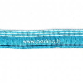 Polyester thread cord, lake blue, 25 mm, 10 cm