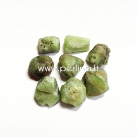 Natural peridot nugget, 17x13mm - 14x10mm, 1 pc