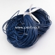 Natūralios odos virvelė, apvali, tamsi mėlyna sp., 1 mm, 1 m