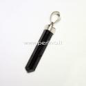 Natūralus juodasis turmalinas, pakabukas, 40x7x7 mm, 1 vnt
