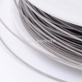 Tiger Tail Wire, light grey, 0.60mm, 22m