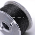 Special coated polyester thread, black, 0,1 mm, 1 roll (~45,7m)