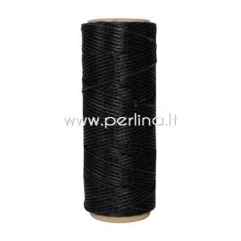 Poliesterio virvelė, juoda sp., 1 mm, 1 m