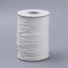 Vaškuota korėjietiška poliesterio virvelė, balta sp., 0,8 mm, 1 m