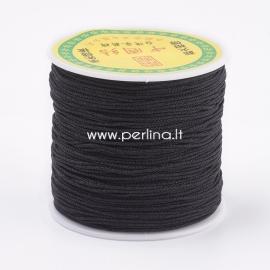 Poliesterio virvelė, juoda sp., 0,8 mm, 1 m