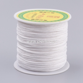 Polyester cord, white, 0,8 mm, 1 m