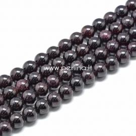 Granatas, karoliukas, apvalus, 11~12 mm, 1 juosta (~33 vnt.)