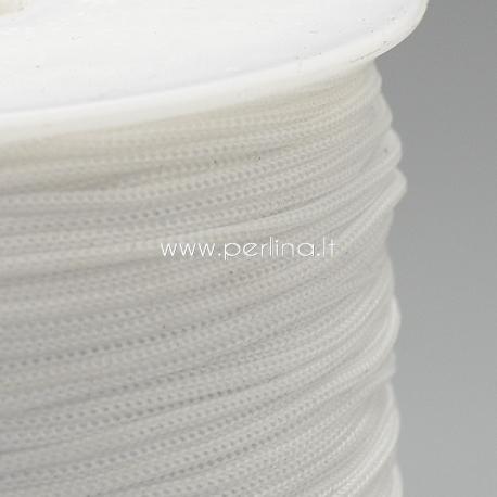 Poliesterio virvelė, balta sp., 0,8 mm, 1 m