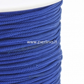 Polyester cord, blue, 0,8 mm, 1 m