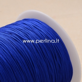 Polyester cord, blue, 1 mm, 1 m
