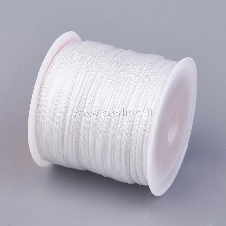 Nailono virvelė, balta sp., 0,8 mm, 1 m