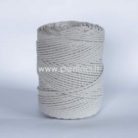 Sukta medvilninė virvė, natūrali sp., 3 mm, 400 m