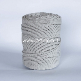 Twisted cotton cord, natural, 3 mm, 410 m