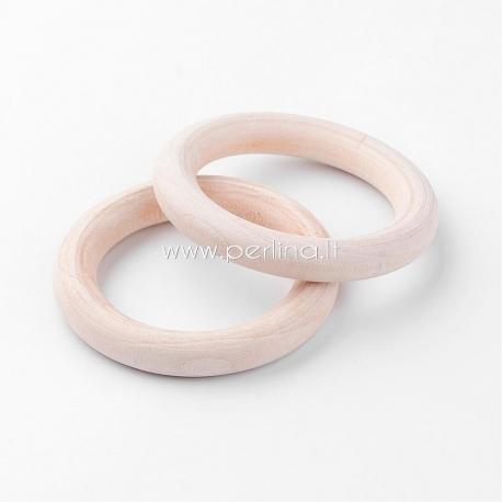 Medinis žiedas, natūrali medžio sp., 58~59x9~9,5mm,1 vnt.