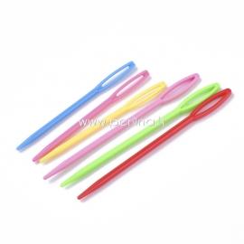 Plastikinės adatos, įvairiaspalvės, 2 dydžiai, 6 vnt.