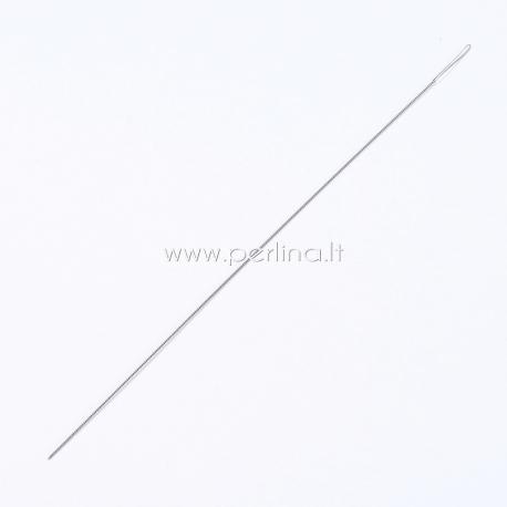 Lanksti sukta vėrimo adata, 10,8x0,03cm, 1 vnt.