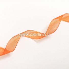 Organzos juostelė, oranžinė sp., 10 mm, 1 m
