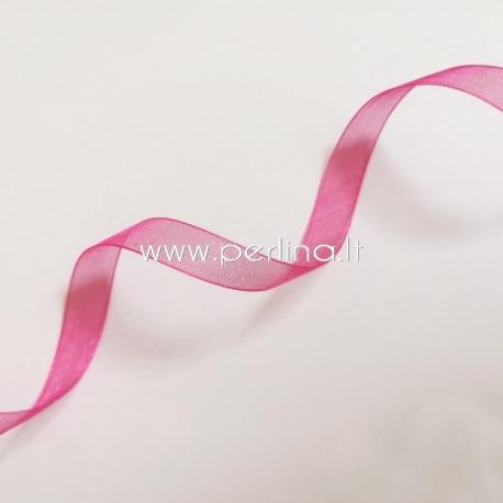 Organzos juostelė, fuksijos sp., 10 mm, 1 m
