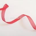 Organzos juostelė, raudona sp., 10 mm, 1 m