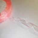 Organzos juostelė, persikinė sp., 12 mm, 1 m