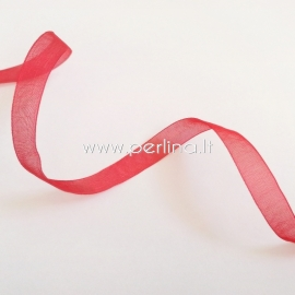 Organzos juostelė, raudona sp., 12 mm, 1 m