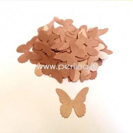 Medžiaginis drugelis, auksinė/šv. ruda sp., 1 vnt., dydis pasirenkamas