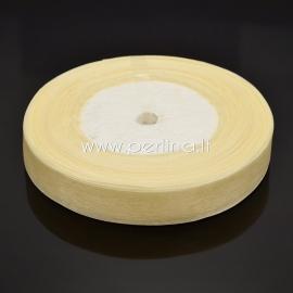 Organzos juostelė, gelsva sp., 25 mm, 1 m