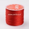 Vaškuota poliesterio virvelė, raudona sp., 0,5mm, 106m