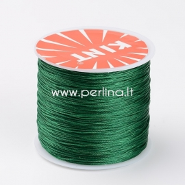 Waxed polyester cord, green, 0.5mm, 106m