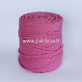 Sukta medvilninė virvė, rožinė sp., 3 mm, 260 m